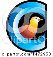 Clipart Of A Bird In An Abstract Letter C Design Royalty Free Vector Illustration by Lal Perera