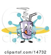 Purple Cup Holding Fountain Soda And A Straw Clipart Illustration by Andy Nortnik