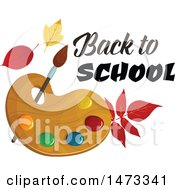 Clipart Of A Paint Palette With Back To School Text Royalty Free Vector Illustration by Vector Tradition SM