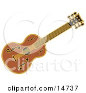 Western Guitar Over A White Background