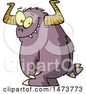 Poster, Art Print Of Cartoon Shy Monster