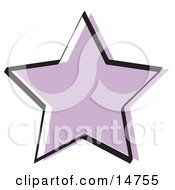 Purple Star Shape Clipart Illustration