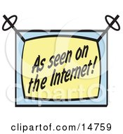 Screen Reading As Seen On The Internet Clipart Illustration