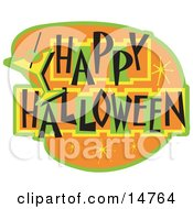Happy Halloween Bar Sign Clipart Illustration