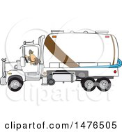 Man Backing Up A Septic Pumper Truck