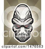 Poster, Art Print Of Alien Head Over Rays