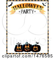Clipart Of A Halloween Party Invitation Border Royalty Free Vector Illustration