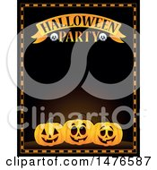 Clipart Of A Halloween Party Invitation Border Royalty Free Vector Illustration by visekart