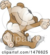 Clipart Of A Sleepy Bear Stretching Royalty Free Vector Illustration