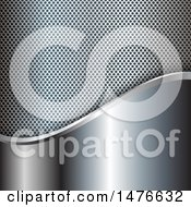 Clipart Of A Metal Background With Perforations And Brushed Textures Royalty Free Vector Illustration