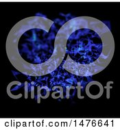 Clipart Of A 3d Blue Low Poly Design On Black Royalty Free Illustration