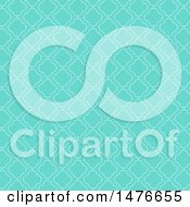 Clipart Of A White And Turquoise Pattern Background Royalty Free Vector Illustration