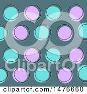 Clipart Of A Sketched Retro Circle Pattern Background Royalty Free Vector Illustration