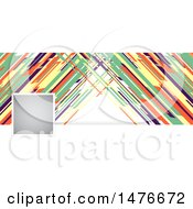 Clipart Of A Retro Colorful Social Media Cover Banner Design Element Royalty Free Vector Illustration