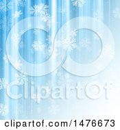 Clipart Of A Snowflake And Blue Lines Background Royalty Free Illustration
