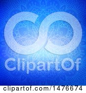 Clipart Of A Blue Mandala Design Royalty Free Vector Illustration by KJ Pargeter
