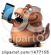 3d Brown Tommy Tyrannosaurus Rex Dinosaur Mascot On A White Background