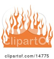Wall Of Orange Flames Clipart Illustration