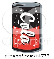 Poster, Art Print Of Black And Red Can Of Cola Soda