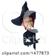 3d Sexy Witch In Dark Blue On A White Background