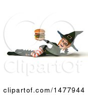Clipart Of A 3d Sexy Witch In Green On A White Background Royalty Free Illustration