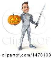 Poster, Art Print Of 3d Caucasian Male Armored Knight On A White Background