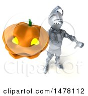 Poster, Art Print Of 3d Armored Knight On A White Background