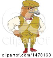 Clipart Of A Sketched Full Length Englishman Hawk Royalty Free Vector Illustration