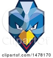 Clipart Of A Cyberpunk Hen Chicken With A Mohawk Royalty Free Vector Illustration