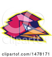 Clipart Of A Rooster Head In Low Polygon Style Royalty Free Vector Illustration