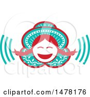 Clipart Of A Laughing Peruvian Girl Royalty Free Vector Illustration by patrimonio