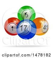 3d Colorful Floating Bingo Or Lottery Balls