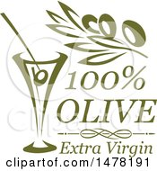 Green Olive And Martini Design