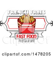 Sketched French Fries And Text Design