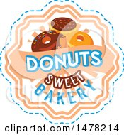 Donut And Text Design