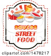 Clipart Of A Sauces And Text Design Royalty Free Vector Illustration