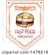 Clipart Of A Breakfast Sandwich And Text Design Royalty Free Vector Illustration by Vector Tradition SM