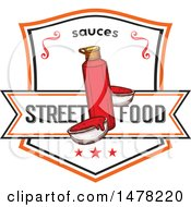 Clipart Of A Ketchup And Text Design Royalty Free Vector Illustration by Vector Tradition SM