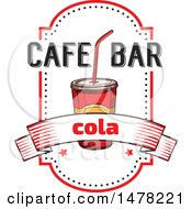 Clipart Of A Fountain Soda And Text Design Royalty Free Vector Illustration