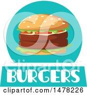 Burger And Text Design