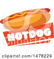 Hot Dog And Text Design