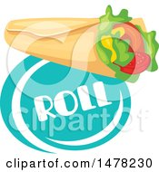 Clipart Of A Wrap And Text Design Royalty Free Vector Illustration