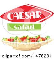 Caesar Salad And Text Design