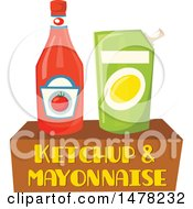 Clipart Of A Condiment And Text Design Royalty Free Vector Illustration