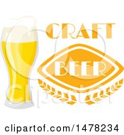 Clipart Of A Beer And Text Design Royalty Free Vector Illustration