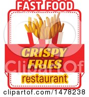 French Fry And Text Design