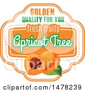 Clipart Of An Apricot And Text Design Royalty Free Vector Illustration