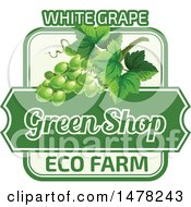 Green Grapes And Text Design