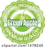 Green Apple And Text Design