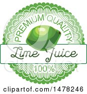 Lime And Text Design